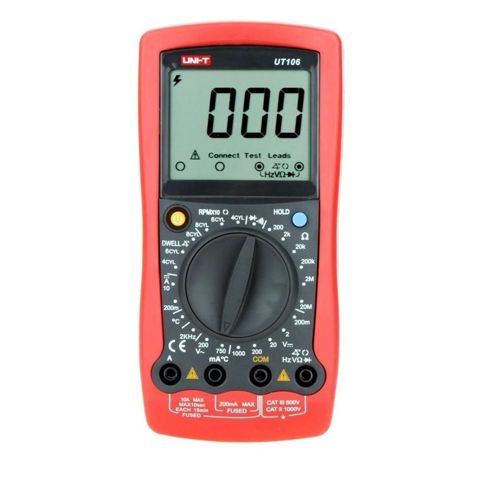 UNI-T UT106 Handheld Manual Range automotive multimeter Multi-Purpose Meters w/ Temperature & Frequency Test multitester  цены