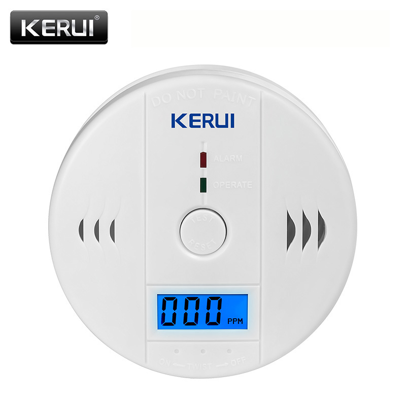 цена на KERUI Home Security Fire CO Gas Sensor Carbon Monoxide Detectors Carbon Monoxide Alarm Work Indenpendently