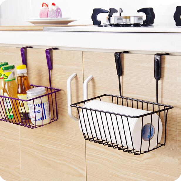 Kitchen Organizer Iron Cabinet Door Hanging Storage Basket Drainer Wall Shelf E Rack In Holders Racks From Home Garden On Aliexpress