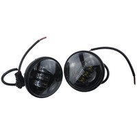 Black One Pair 4.5 Inch 60W LED Fog Light Passing Lamp for Harley Davidson Touring Motorcycle
