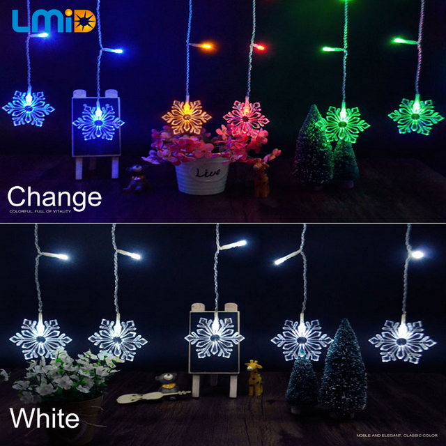 Snowflake Christmas Lights.Waterproof Hanging Snowflake Christmas Lights