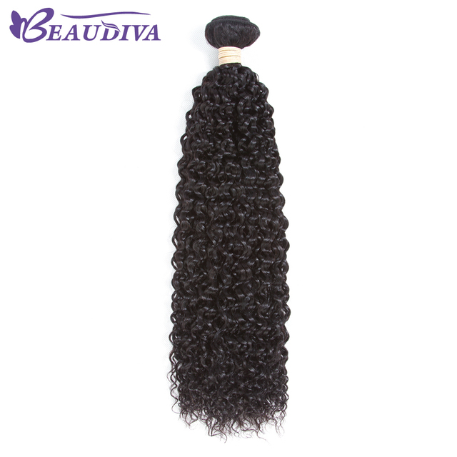 Beaudiva Pre Colored Human Hair Weave Kinky Curly Natural Color Soft
