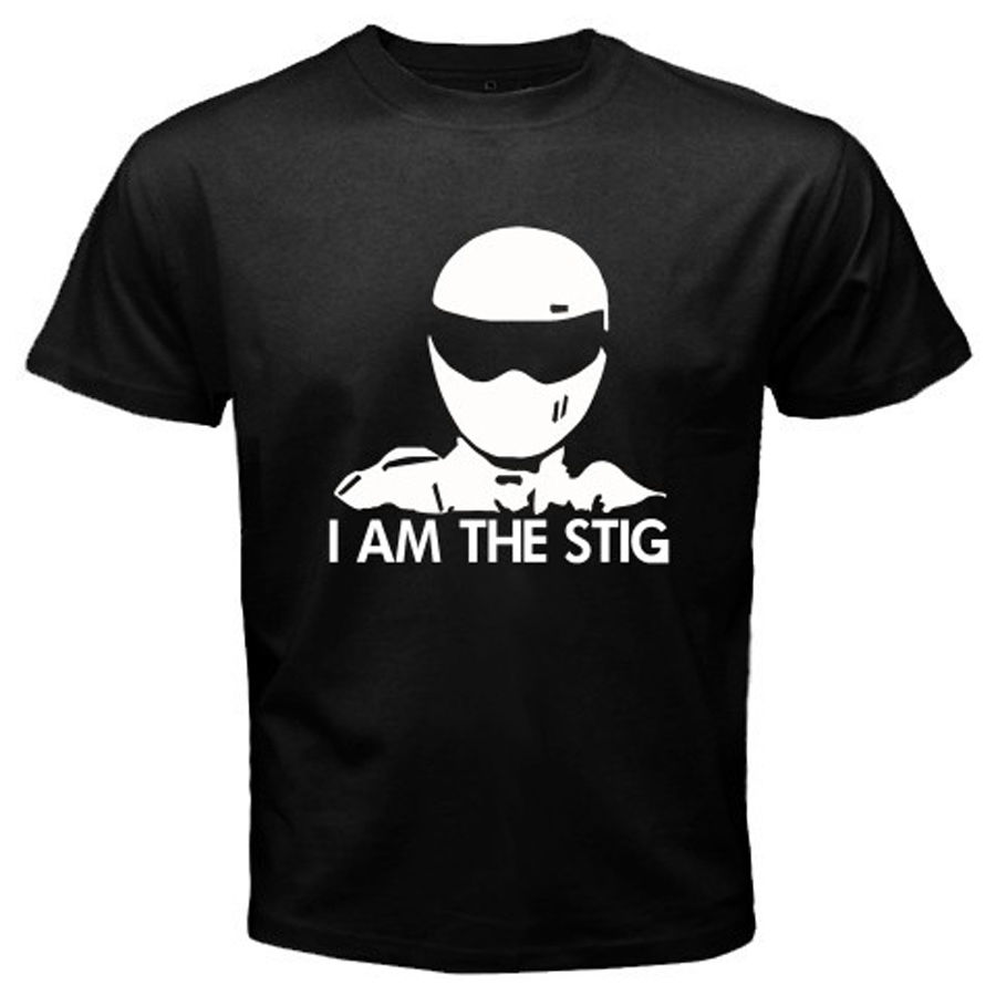 Yeni Ben Stig TOP GEAR Otomotiv Megazine TV Show erkek Siyah T-Shirt S-3XL