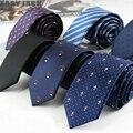 New Skinny Cotton Necktie Men Polyester Yarn gravata Slim Atv Wedding Krawatte Cheap Neckties Cravat Ties corbatas