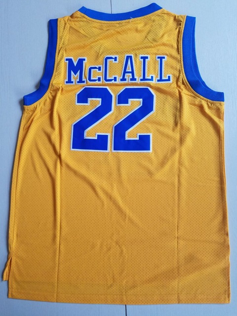 4f7d5421b39 Love and Basketball 22 Quincy McCall Jersey Crenshaw High School Basketball  Jerseys Stitched Mens Gold Blue S-XXL
