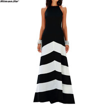 a393efa84904b خمر الكلاسيكية فستان أسود أبيض مقلم المرقعة أكمام طويلة اللباس 2018 المرأة  ضئيلة الخصر رقيقة خمر ماكسي اللباس حزب