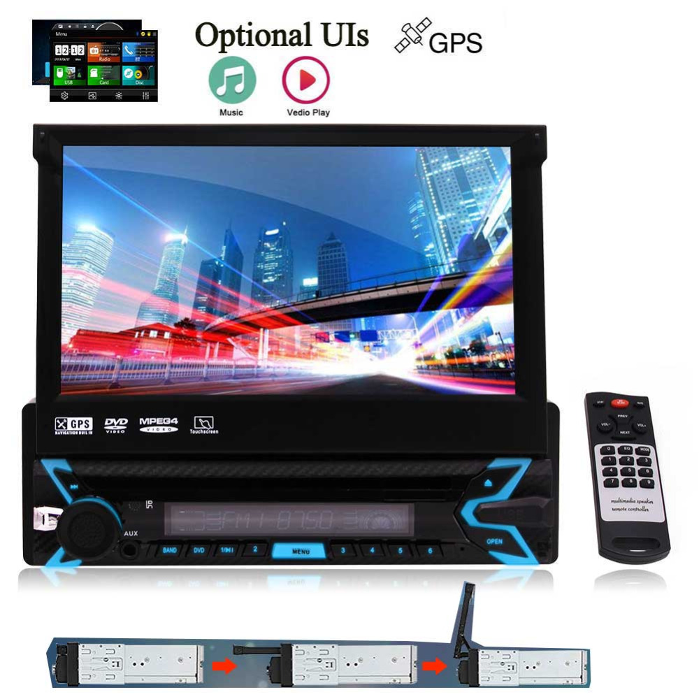 Autoradio Support Navi/USB/SD/Cam-in/Bluetooth/FM/AM RDS Radio With Free Map Card Latest Single 1 Din Wince Car Audio Stereo 7