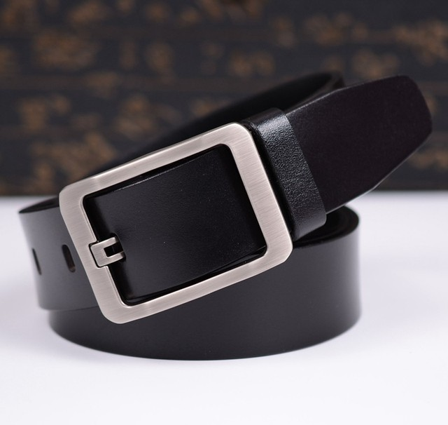 World eshipping Belt New Style Fashion Men 100% Cow Leather Belt Male Strap Brand Belt Waistband for Men Genuine Leather Belt