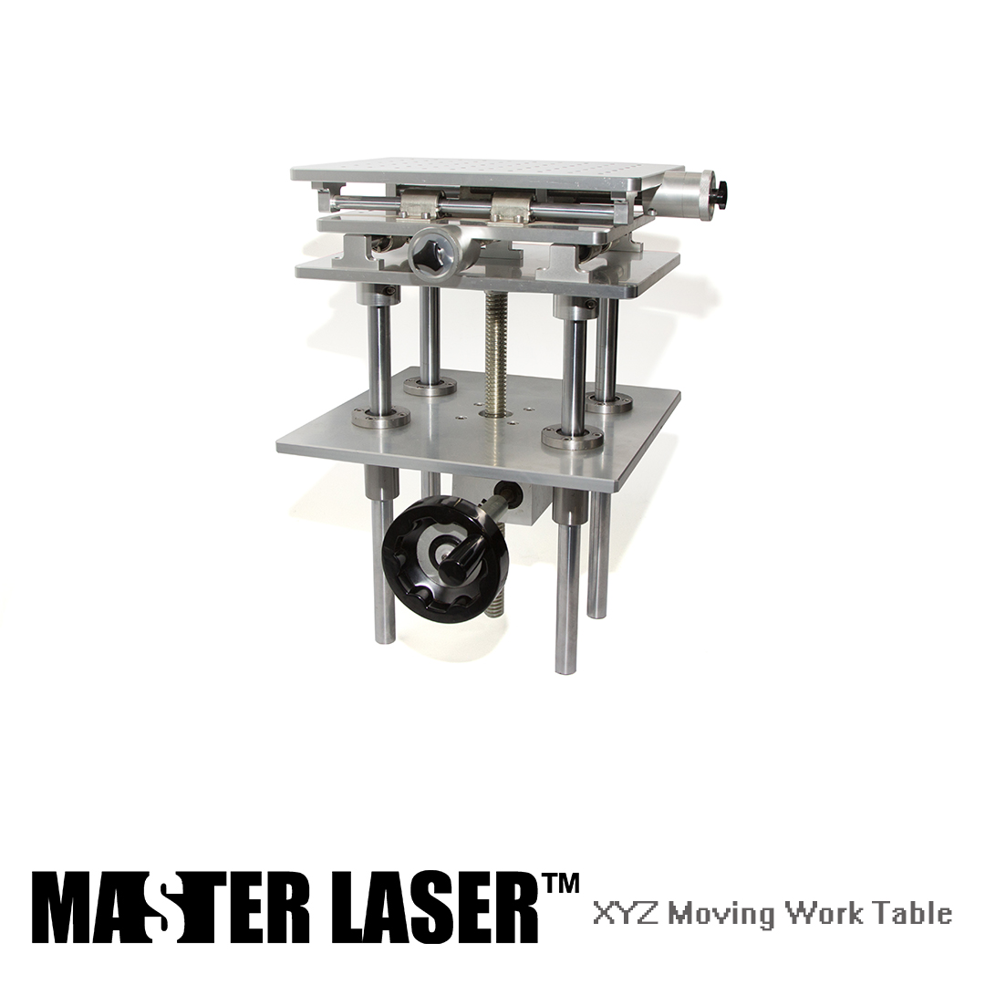 Separate 3 Axis Moving Table Laser Marking Engraving Machine 330*250mm 300 mm Height Adjust Portable Cabinet XYZ AXIS Table 2d worktable fiber laser mark machine 2 axis moving table 210 160mm xy table