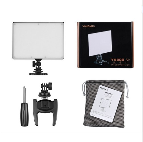 YONGNUO YN300 Air Ultra Thin On Camera Led Video Light Pad Panel for Canon Nikon Sony Panasonic DSLR & Camcorder godox led308y 308 3300k led video light lamp for sony panasonic canon nikon dv camcorder dslr camera