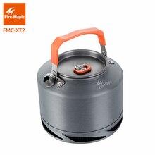 Огонь Клен пеший Туризм Чайник Открытый Кемпинг кухонная посуда теплообмена Pinic кофе чай горшок 1.5L с чай фильтр FMC-XT2