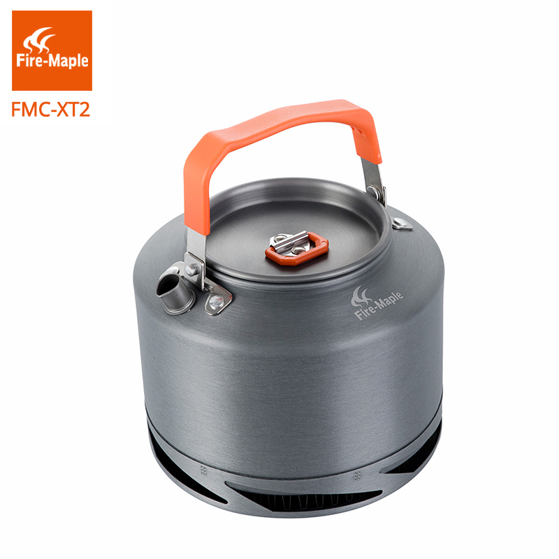 Fire Maple Hiking Kettle Outdoor Camping Cookware Heat Exchange Pinic Kettle Coffee Tea Pot 1.5L With Tea Filter FMC-XT2