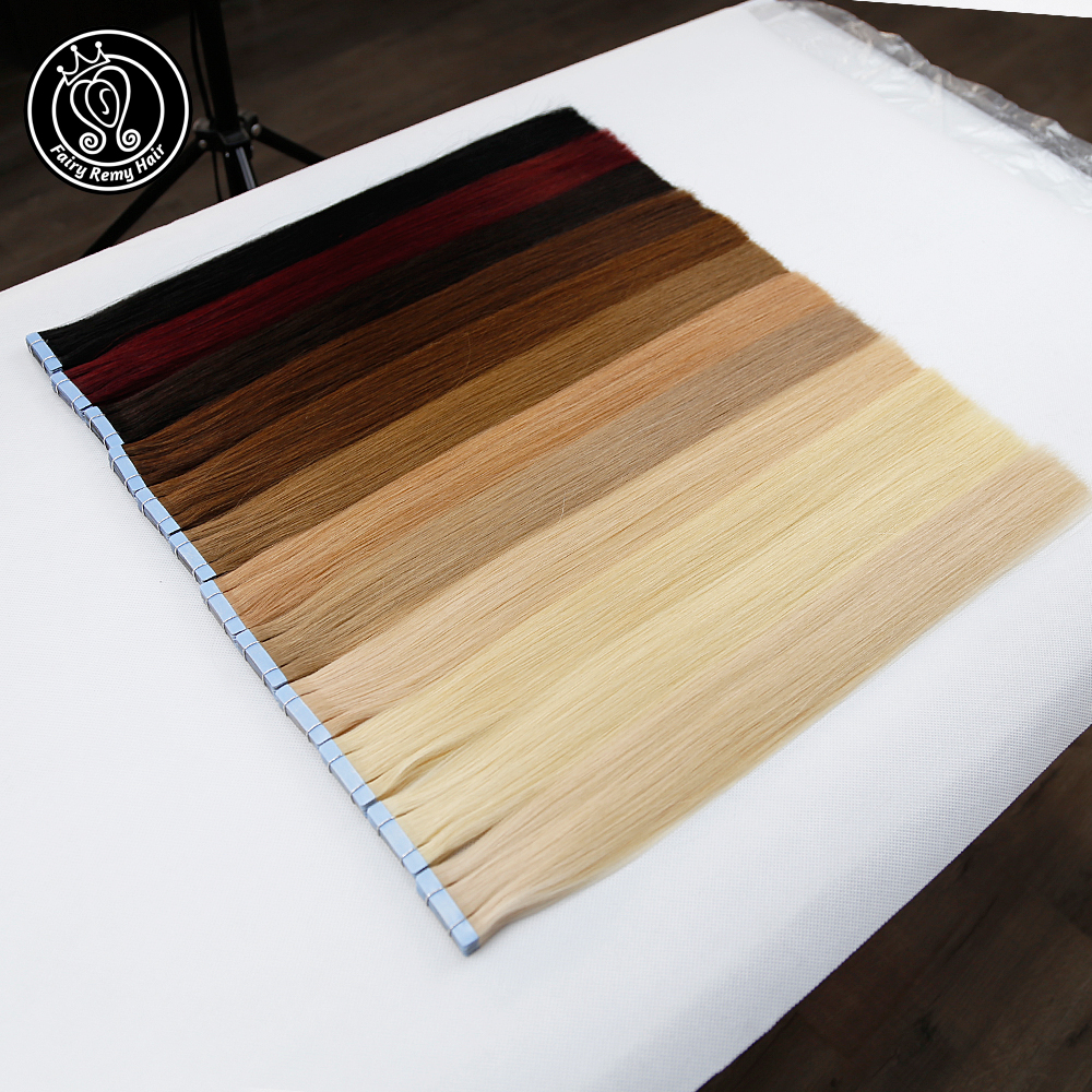 Tape In Remy Human Hair Adhesive Extensions 20 inch Pure Real Remy Tape on Human Hair