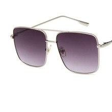 Женские солнцезащитные очки, роскошные брендовые, негабаритные, Ретро стиль, градиентные оттенки, мужские солнцезащитные очки, UV400, квадратные, женские, мужские, Винтажные Солнцезащитные Очки
