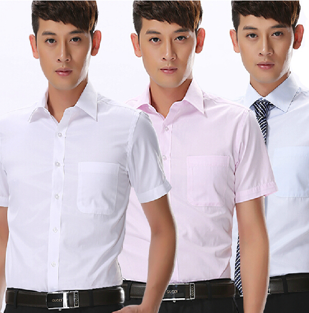 New Korean Summer man male men's free shipping white suits slim short sleeve shirt Business casual occupation overshirt blouse