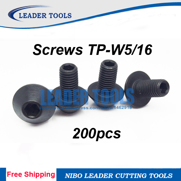 Free Shipping 200 TP W5 16 Milling Screws for Mr Chris H TP W5 16 Inch