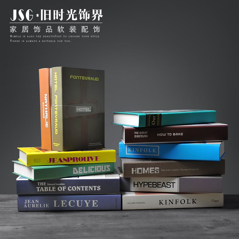 Us 51 09 30 Off Old Times Modern Sets Of Decorative Books Simulation Books Simple Shops Coffee Shops Libraries Props Books Fake Books No In