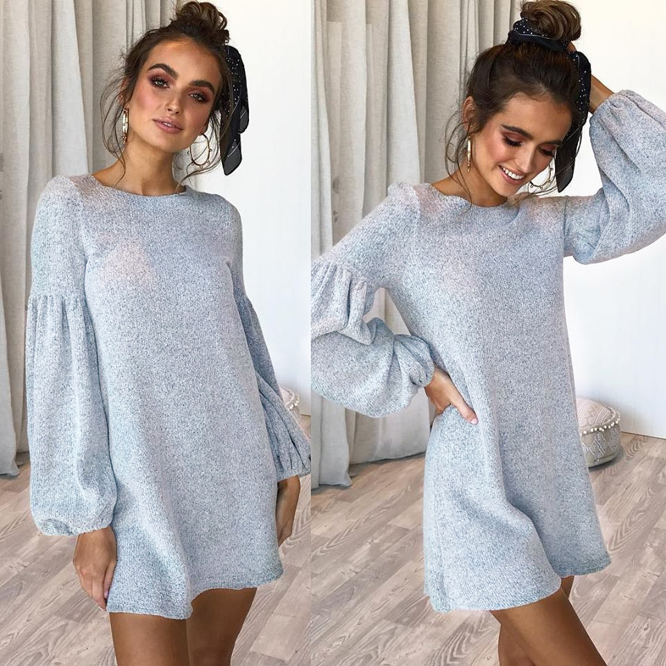 2018 Autumn Long Sweater Women Spring Loose Sweater Dress Women Pullover Knitted Sweater Female Warm Sweaters And Pullovers Lady