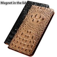 CJ11 Crocodile back pattern natural leather phone case for Xiaomi Mi MAX 2 case for Xiaomi Mi MAX 2 phone bag with card holder