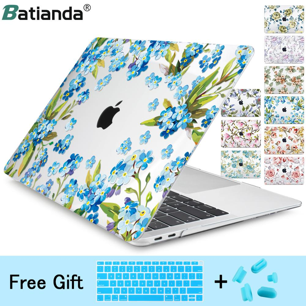 For Macbook Air Pro 13 2019 2018 A1932 Case mac book Retina 11 12 15 New pro Flower Crystal Laptop Shell