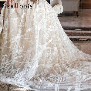 Image 5 - Vestidos De Novia 2019 Yeni Tasarım Şapel Tren A Line düğün elbisesi Zarif Kolsuz Dantel Aplikler Tül gelin kıyafeti