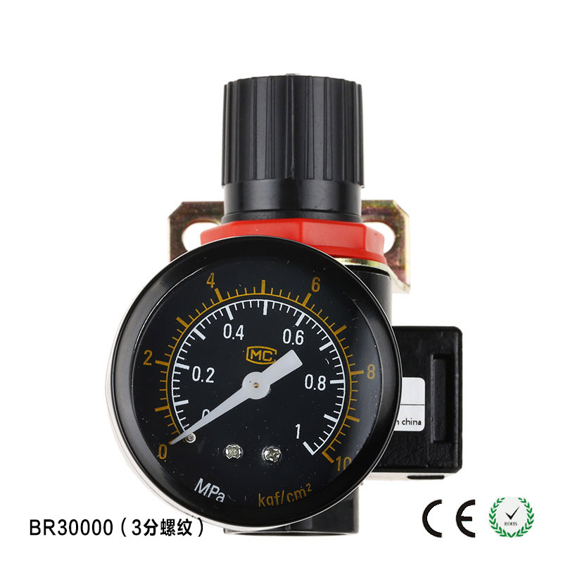 BR3000 Pressure Regulator 3/8 BSPT with Gauge and Bracket 1500L/min 76zy01 mig wire feeder motor dc24 1 8 18m min 0 8 1 0mm roll without bracket