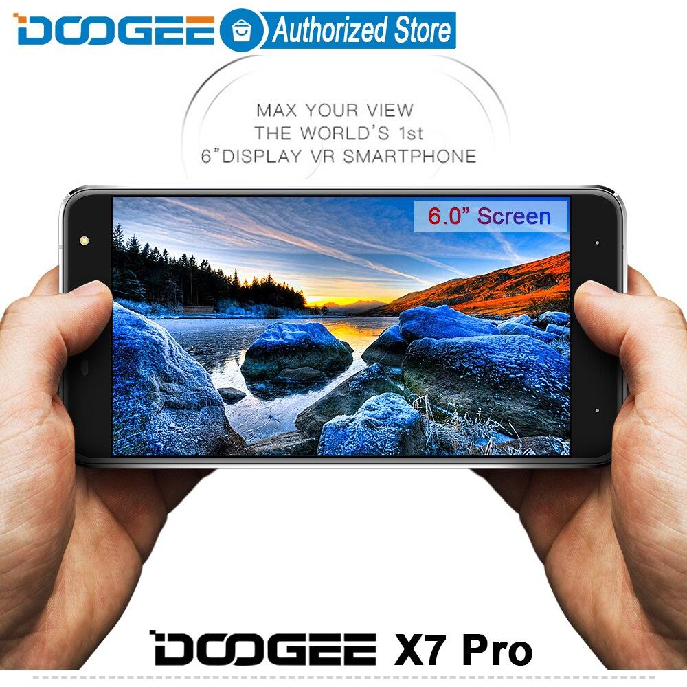 Цена за Doogee X7 pro мобильные телефоны 6.0 Дюйма HD IPS 2.5D 2 ГБ RAM + 16 ГБ ROM MTK6737 Android6.0 Dual SIM Quad Core 8.0MP 3700 мАч WCDMA LTE