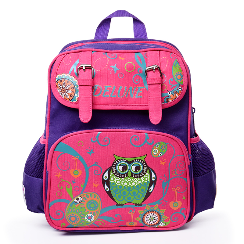 ФОТО Delune kids cartoon backpacks school backpack children orthopedic school supplies school bags for girls kids backpack girls