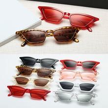 Top qualität Mode Frauen Gläser Kleine Rahmen Cat Eye Sonnenbrille UV400 Sonnenschutz Gläser Straße Brillen Weiblich gläser