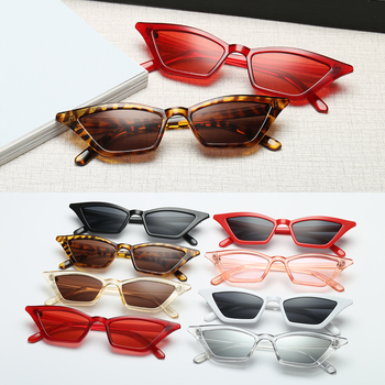 Top quality Fashion Women Glasses Small Frame Cat Eye Sunglasses UV400 Sun Shades Street Eyewear Female glasses - discount item  29% OFF Motorcycle Equipments