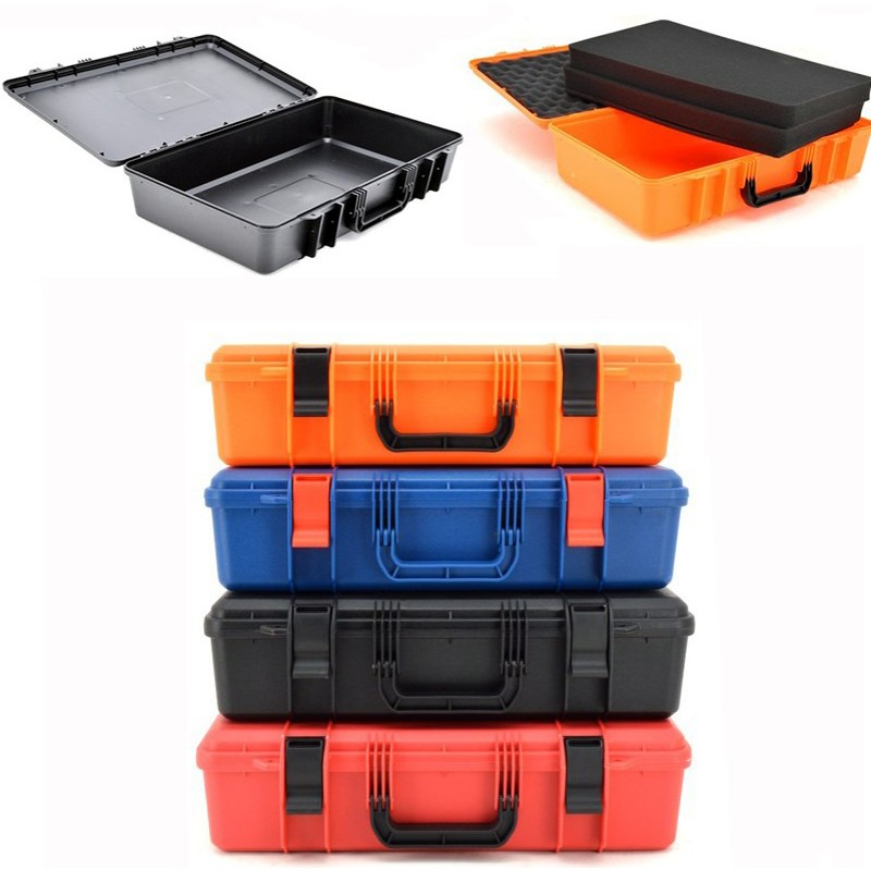 520x335x130mm Instrument case ABS Plastic Toolbox Protective Safety case Storage Box Equipment Case Outdoor Safety Equipment