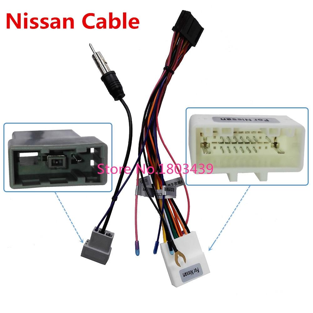 Connecteur ISO Câble Utilisé dans Ownice Marque Pour Nissan Série Voiture DVD Lecteur Multimédia Radio Système