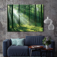 landscape canvas painting picture wall art for home room print beautiful sunrise forest poster selflessly wall impressionism monet wild poppy field sunrise landscape canvas painting art print poster picture painting