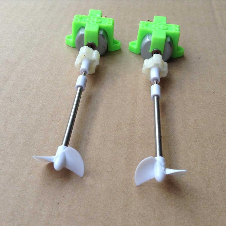 2 компл./лот DIY RC лодка приводной комплект 130 мотор + кронштейн + пластиковый разъем + 8,5 см Вал + CW/CCW Набор пропеллеров для модели пузырьковой лодки