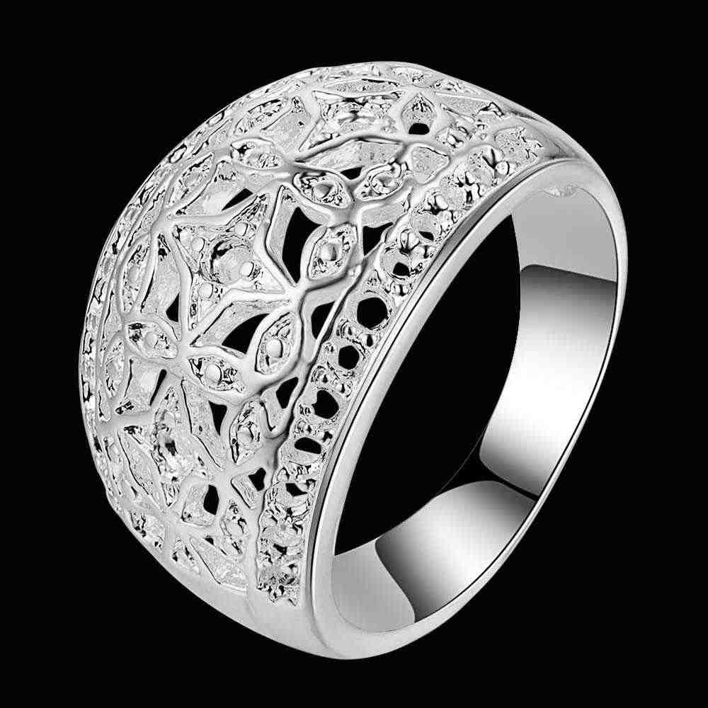 Arco classico carve modello del Commercio All'ingrosso 925 gioielli in argento placcato anello, Anello dei monili di modo per Le Donne,/WKZOAFHM SDYGAAWY