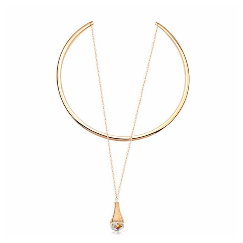 Prix pour 2016 Nouveau Design 100% D'origine Cristaux De Swarovski Choker Collier Pour Les Femmes Parti Bijoux Chaîne Collares