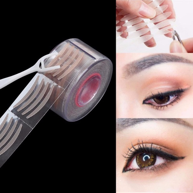 300pairs Womens Narrow Eye Tape Double Eyelid Sticker Natural Big