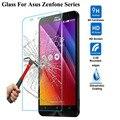Vidrio templado para el asus zenfone 2 laser ze550kl ze601kl 4 5 6 selfie go zb551kl 3 max zc553kl zc550kl film protector de pantalla