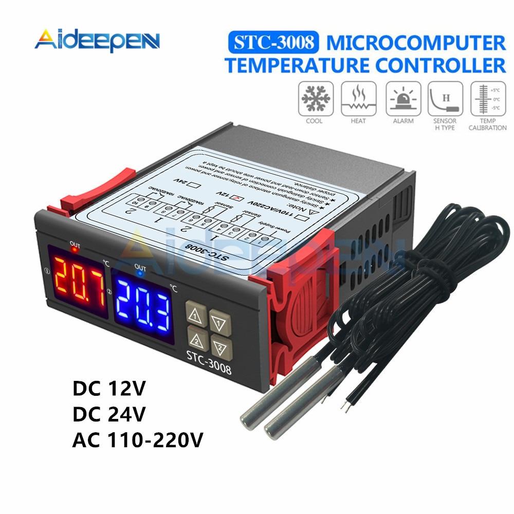 220-240V Digital Temperature Controller Temp Sensor Thermostat NU