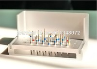 NOWY 16 sztuk Dental Diamentowe Polerowanie High Speed Wierteł Z Węglika Burs + 1 Dezynfekcji Posiadacza BlockSteel Azotan Wiertarki Stomatologii
