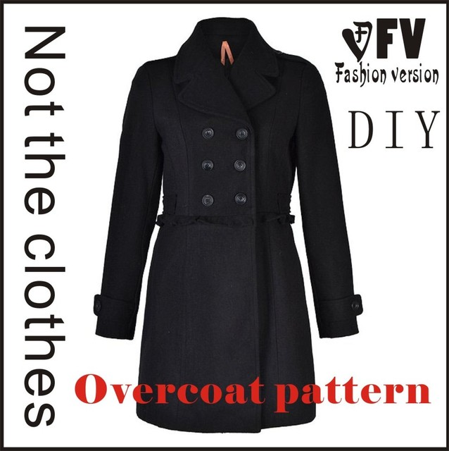 McCall Pattern Clothing DIY Overcoat Sewing Pattern Coat Sewing ...