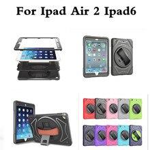 Para Apple iPad Aire 2 Caso 3 EN 1 Tres capas Híbrido de Servicio Pesado Resistente Resistencia A Caídas Protección A Prueba de Golpes de mano caso