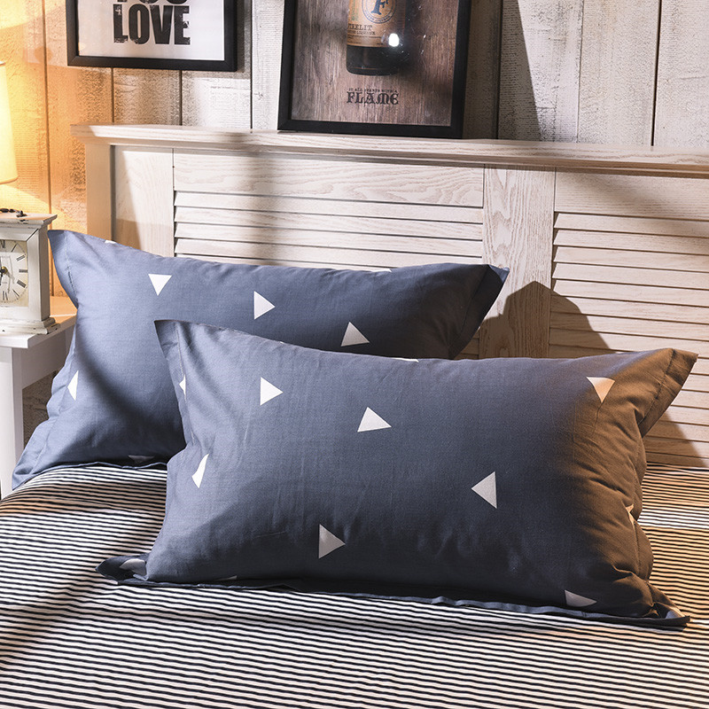 1 Piece Simple Style Pillow Case Cover Plain Dyed Knitted Pillowcase Polyester Pillow Cases For Kids Adults 48cm*74cm48