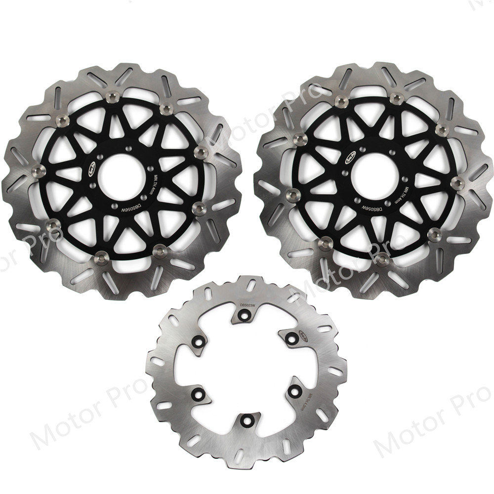 For Ducati SL 900 Superlight 1991 1997 Front Rear Brake Disc Disk Rotor Kit Motorcycle 1992 1993 1994 1995 1996 944 996 BLACK