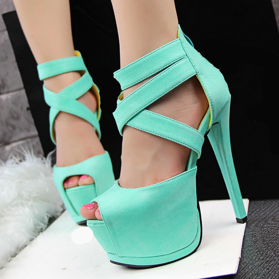 2a8c67062758d2 Gladiator Women s Sandals Sexy Lady s Open Toe Platform Sandals Stiletto  Thin High Heels Shoes Sandalias Femininas Shoes Woman-in Women s Sandals  from Shoes ...
