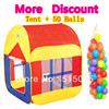 Kids gift promotion large child tent +50 ocean balls kids game house 5.5 cm wave balls indoor and outdoor play tent ZP5005