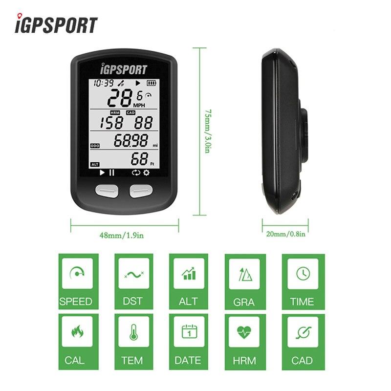 IGPSPORT IGS10 GPS BIKE Cycling Computer Wireless ANT + Tachimetro Impermeabile IPX6 Della Bicicletta USB Retroilluminazione Bici di Sport Del Computer
