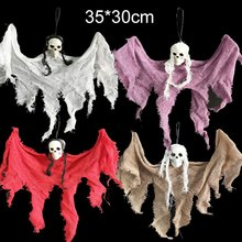 Halloween Skull Little Hanging Ghost Halloween Horror Hanging Ghost Horror Haunted House Halloween Props Supplies Decorations(China)