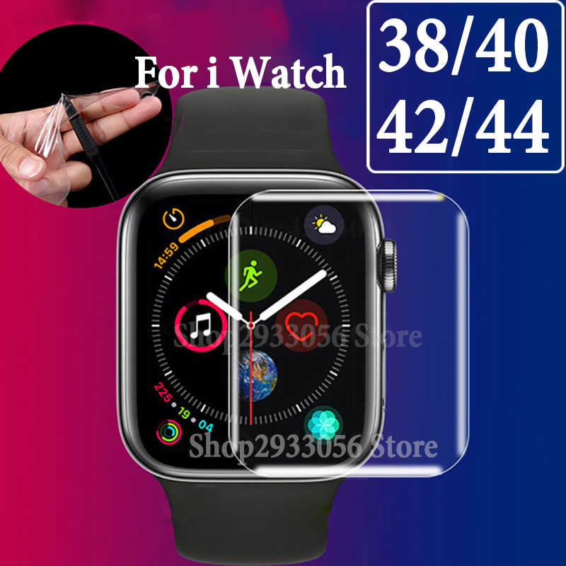 Full Cover For i Watch 4 3 2 1 Protective Film On The Original 38mm 42mm 40mm 44mm Soft Screen Protector Protection (Not Glass)