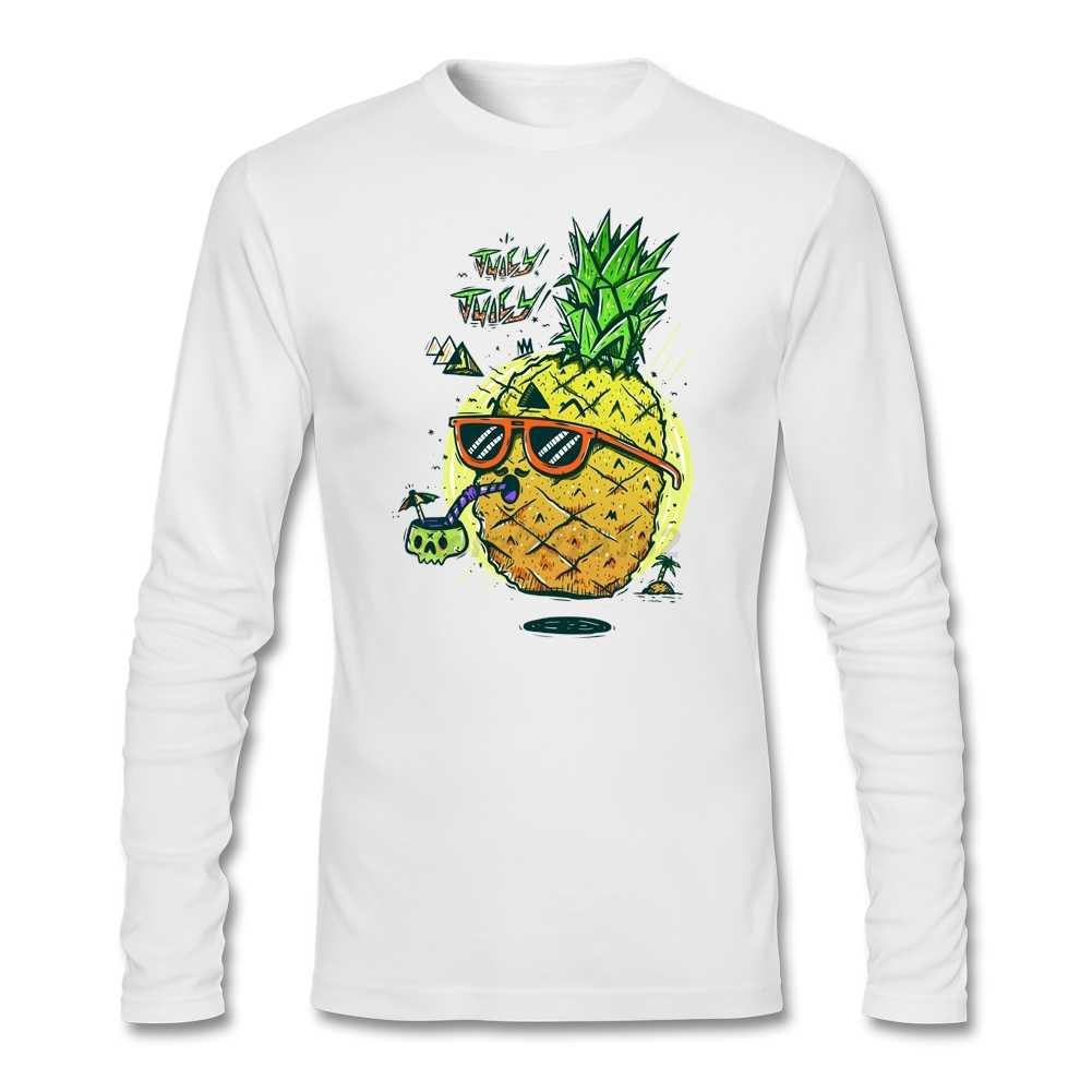 Мужская футболка для мамы на заказ для взрослых, сочные ананасы, длинный рукав, сочные Человеческие черепа, сделай сам, идеи, рубашка женская униформа
